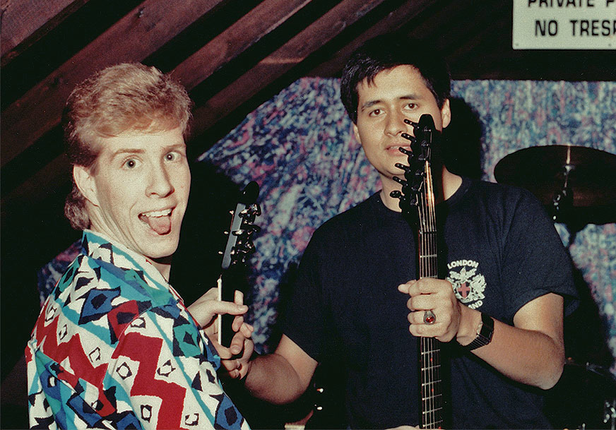 Doug (left) and Ed, Syracuse, NY, 1989